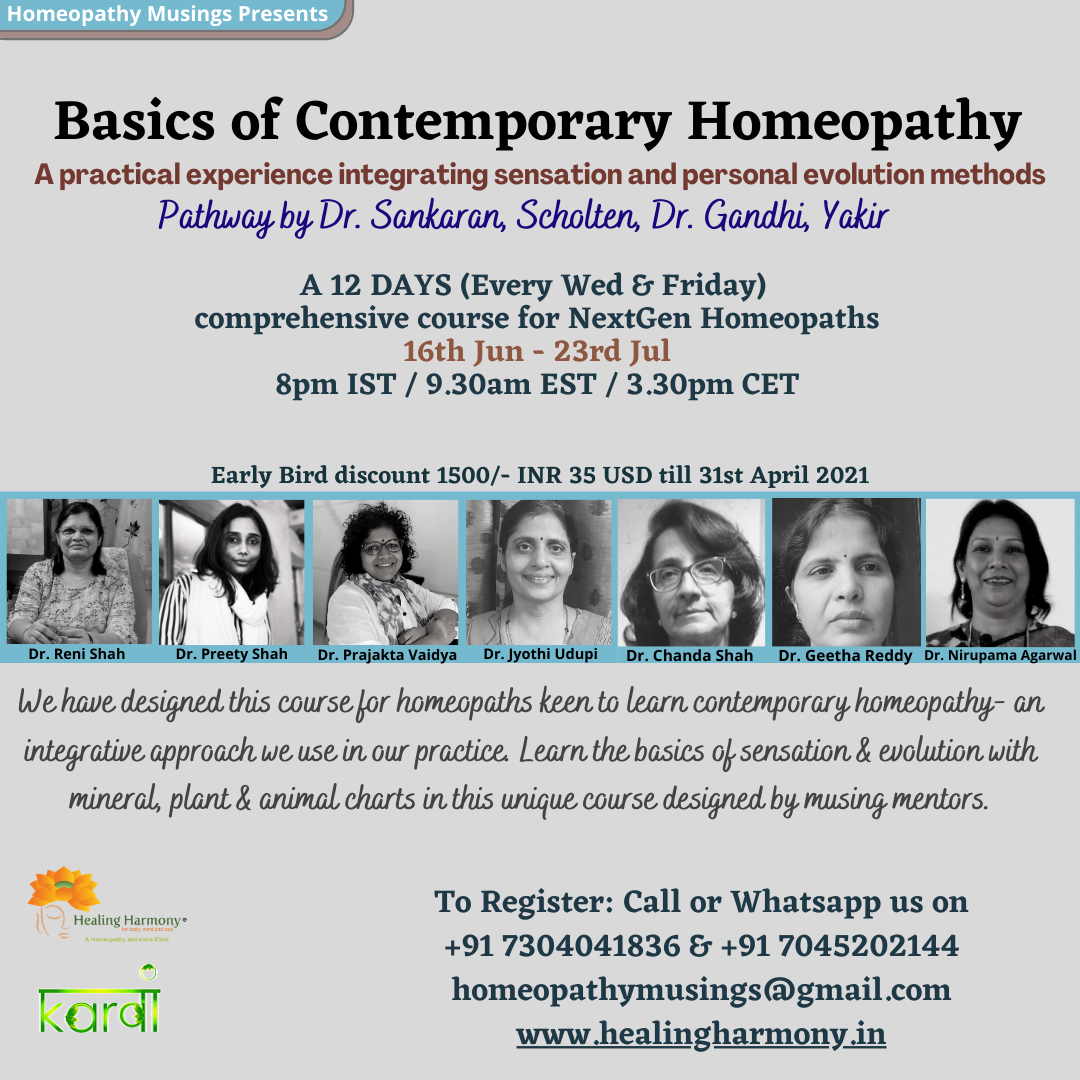 Basics Of Contemporary Homeopathy